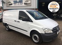 USED 2014 64 MERCEDES-BENZ VITO 113 CDI  LONG LWB 6 SPEED BIGGER 136 BHP WITH TAILGATE 1 OWNER, CRUISE, BLUETOOTH, ELEC PACK, 12 MTH RAC WARRANTY AND MOT