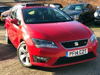 USED 2014 14 SEAT LEON 2.0 TDI FR TECHNOLOGY 5dr 150 BHP 1 Owner, Full Seat History, Elec Glass Pan roof plus over £3k options