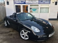 USED 2006 06 PORSCHE BOXSTER 2.7 24V 2d 240 BHP 34832 MILES ONLY  TWO OWNERS  FULL BLACK LEATHER  EXCELLENT CONDITION