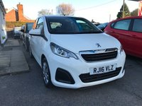 USED 2016 16 PEUGEOT 108 1.0 ACTIVE 5d 68 BHP NEED FINANCE? WE STRIVE FOR 94% ACCEPTANCE