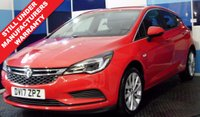 USED 2017 17 VAUXHALL ASTRA 1.4 TECH LINE 5d 99 BHP