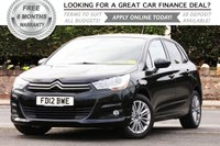 USED 2012 12 CITROEN C4 1.6 VTR PLUS 5d AUTO 118 BHP +++ FREE 6 months Autoguard Warranty included in screen price +++