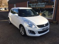 USED 2014 14 SUZUKI SWIFT 1.2 SZ4 3 DOOR 94 BHP IN WHITE WITH ONLY 25,000 MILES. APPROVED CARS ARE PLEASED TO OFFER THIS  SUZUKI SWIFT 1.2 SZ4 3 DOOR 94 BHP IN WHITE WITH ONLY 25,000 MILES IN IMMACULATE CONDITION INSIDE AND OUT WITH A FULL MAIN DEALER SERVICE HISTORY,AN IDEAL FIRST CAR OR SMALL FAMILY CAR