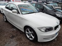 USED 2011 11 BMW 1 SERIES 2.0 118D SPORT 2d 141 BHP BLACK LEATHER, FRON AND REAR PARKING SENSORS, F.S.H