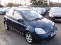 USED 2004 04 TOYOTA YARIS 1.3 BLUE VVT-I 5d 86 BHP IDEAL 1ST CAR, VERY ECONOMICAL & RELIABLE, LOW TAX / INSURANCE, DRIVES SUPERBLY !!