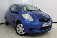 USED 2006 56 TOYOTA YARIS 1.0 T3 VVT-I 3DR 69 BHP AIR CONDITIONING + MULTI FUNCTION WHEEL + RADIO/CD + ELECTRIC WINDOWS + ELECTRIC MIRRORS