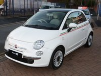 USED 2010 59 FIAT 500 1.2 LOUNGE 3d  PANORAMIC ROOF ~ BLUE & ME ~ AIR CON ~ BLUETOOTH ~ ONE FORMER KEEPER ~ FULL SERVICE HISTORY