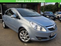 USED 2007 07 VAUXHALL CORSA 1.2 DESIGN 16V 3d 80 BHP PANORAMIC ROOF, HPI CLEAR, ALLOYS AIR CON, FULL SERVICE HISTORY