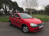 USED 2001 VAUXHALL CORSA 1.2 ELEGANCE 16V 5d 75 BHP Sold For Spares Or Repair