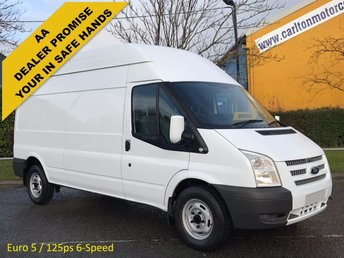 2012 FORD TRANSIT 2.2TDCi 125 350L High Roof panel van Rwd MANAGERS SPECIAL...EURO 5... DELIVERY T.B.A £5950.00