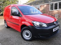 2011 VOLKSWAGEN CADDY 1.6 C20 TDI 102 PS BLUEMOTION A/C PANEL VAN £4950.00