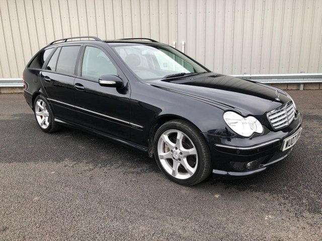 2007 07 MERCEDES-BENZ C CLASS 1.8 C200 KOMPRESSOR SPORT EDITION AUTO 161 BHP ESTATE