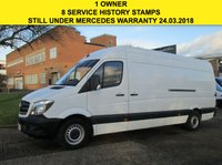 USED 2015 15 MERCEDES-BENZ SPRINTER 2.1 313CDI LWB HIGH ROOF 129 BHP. NEW SHAPE. 1 OWNER. PX MERCEDES WARRANTY. LOW RATE FINANCE. PX WELCOME