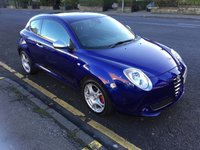 USED 2011 11 ALFA ROMEO MITO 1.4 VELOCE MULTIAIR 3d 135 BHP PRICE INCLUDES A 6 MONTH AA WARRANTY DEALER CARE EXTENDED GUARANTEE, 1 YEARS MOT AND A OIL & FILTERS SERVICE. 12 MONTHS FREE BREAKDOWN COVER