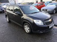 USED 2012 61 CHEVROLET ORLANDO 2.0 LS VCDI 5d 130 BHP PRICE INCLUDES A 6 MONTH AA WARRANTY DEALER CARE EXTENDED GUARANTEE, 1 YEARS MOT AND A OIL & FILTERS SERVICE. 6 MONTHS FREE BREAKDOWN COVER.