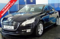 """USED 2013 13 PEUGEOT 508 1.6 HDI ACTIVE 4d 112 BHP A wonderful example of this highly desirable large family saloon finished in unmarked black contrasted with 17"""" alloys ,This car returns a very ecconomical  combined mpg of 61.4 along with road fund of £30 a year ,this car looks and drives superbly has Bluetooth with media and cruise control, luxurious economical spacious"""