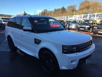 USED 2013 13 LAND ROVER RANGE ROVER SPORT 3.0 SDV6 HSE BLACK 5d 255 BHP Fuji White, Black leather with Black pack & more