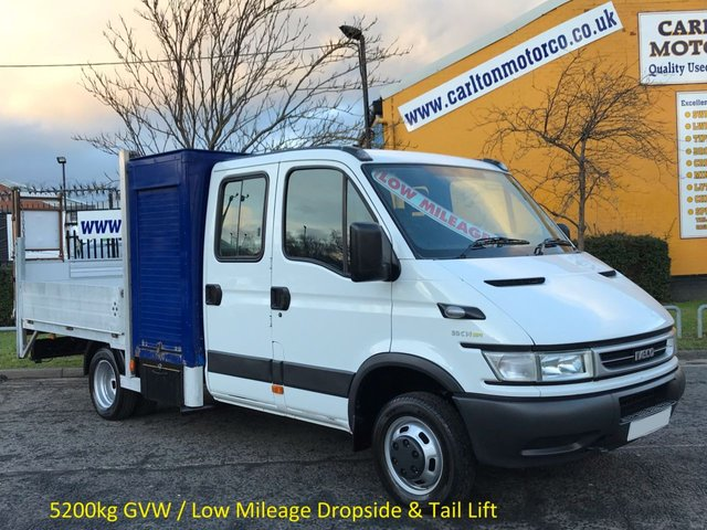 2006 56 IVECO-FORD DAILY 3.0 50C14 D/C Dropside+T/Lift [ Low Mileage ] DRW