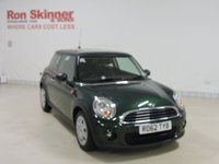USED 2012 62 MINI HATCH ONE 1.6 ONE D 3d 90 BHP with Bluetooth