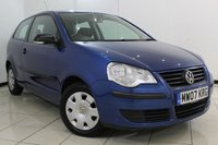 USED 2007 07 VOLKSWAGEN POLO 1.2 E 3DR 54 BHP SERVICE HISTORY + AIR CONDITIONING + RADIO/CD + AUXILIARY PORT