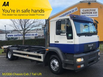 2006 MAN M2000 LE 14,220 Chassis Cab +T/Lift [ Low Mileage ] 6sp Manual,Rear Air Free Uk Delivery LEZ  £8950.00