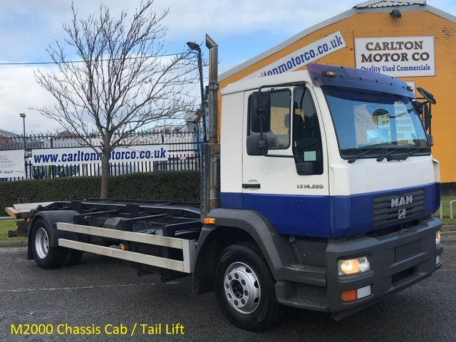 2006 06 MAN M2000 LE 14,220 Chassis Cab +T/Lift [ Low Mileage ] 6sp Manual,Rear Air Free Uk Delivery LEZ
