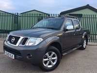 USED 2013 13 NISSAN NAVARA 2.5 DCI TEKNA 4X4 SHR DCB 1d AUTO 188 BHP SAT NAV LEATHER RUNNING  BOARDS FSH NO VAT NO FINANCE REPAYMENTS FOR 2 MONTHS STC. NO VAT. 4WD. STUNNING GREY MET WITH FULL BLACK LEATHER TRIM. ELECTRIC HEATED SEATS, CRUISE CONTROL. AIR CON. RUNNING BOARDS. 17 INCH ALLOYS. COLOUR CODED TRIMS. PRIVACY GLASS. REVERSING CAMERA. ROOF RACK/RAILS. BLUETOOTH PREP. PAS. MONITOR. R/CD PLAYER. MFSW. MOT 09/18. ONE PREV OWNER. FULL SERVICE HISTORY. FCA FINANCE APPROVED DEALER. TEL 01937 849492