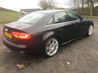 USED 2013 63 AUDI A4 A4 S LINE TDI 150BHP 2 OWNERS FROM NEW, AUDI SERVICE HISTORY, 2 KEYS