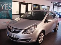 USED 2010 60 VAUXHALL CORSA 1.4 SXI A/C 3d 98 BHP This star silver metallic Corsa is fitted with grey cloth seats. It has power steering, remote locking, cruise control, tinted glass,  electric windows and mirrors, air conditioning, alloy wheels, CD Stereo with Aux port and more.  It has had only 3 owners, the last since jan 2012 and comes with an excellent service history ,its been previously serviced 7 times @ 2727/8465/15306/23297/30477/35458/40580 miles. Its MOT'd until Sep 2018. We will supply it with a 6 months warranty.