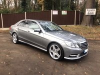 USED 2013 13 MERCEDES-BENZ E CLASS 2.1 E220 CDI BLUEEFFICIENCY S/S SPORT 4d AUTO 170 BHP Low Mileage, Great Specification, Automatic