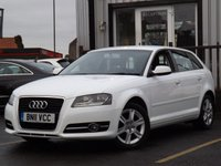 USED 2011 11 AUDI A3 1.6 TDI SE 5d 103 BHP STUNNING EXAMPLE WITH FULL SERVICE HISTORY 5 STAMPS, LOOKS FANTASTIC IN WHITE