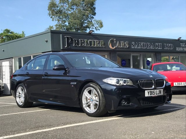 USED 2015 15 BMW 5 SERIES 2.0 520D M SPORT 4d 188 BHP