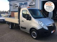 2012 VAUXHALL MOVANO 6 SPEED 125 BHP DROPSIDE PICK UP WITH LOCKABLE TOOL BOX £7995.00