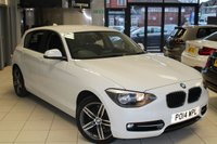USED 2014 14 BMW 1 SERIES 1.6 116I SPORT 5d 135 BHP FULL SERVICE HISTORY + BLUETOOTH + DAB RADIO + 17 INCH ALLOYS + RAIN SENSORS + AIR CONDITIONING + FRONT SPORT SEATS + ELECTRIC WINDOWS