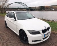 USED 2009 09 BMW 3 SERIES 2.0 318D ES 4d 141 BHP **WHITE WITH BLACK ROOF****AIR CONDITIONING**