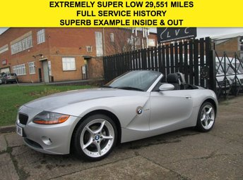 2005 BMW Z4 2.0 SE ROADSTER CONVERTIBLE 148BHP. EXTREMELY LOW 29,500 MILES. £5990.00