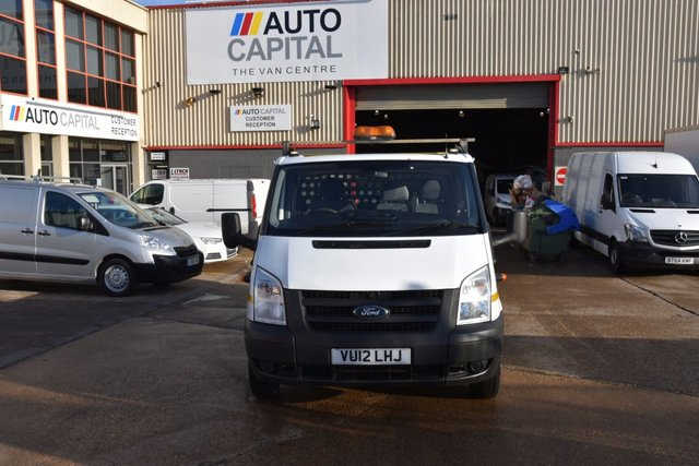 2012 12 FORD TRANSIT 2.4 350 E/F DRW 2d 115 BHP LWB RWD DIESEL MANUAL DROPSIDE LORRY ONE OWNER FULL S/H SPARE KEY
