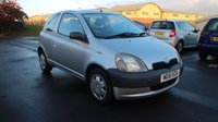 USED 2002 51 TOYOTA YARIS 1.0 GS VVT-I 3d 64 BHP CLEARANCE AS IS . NOT AVAILABLE ON FINANCE.
