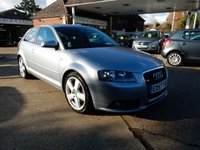 USED 2007 57 AUDI A3 2.0 TDI SPORT 3d AUTO 138 BHP LEATHER,HEATED SEATS,PARKING AID,TWO KEYS,FULL HISTORY