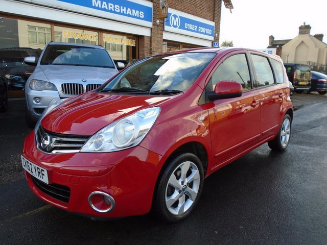 2012 62 NISSAN NOTE 1.4 ACENTA 5d 88 BHP