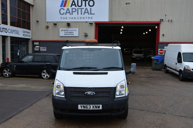 2013 63 FORD TRANSIT 2.2 350 DRW 2d 125 BHP XLWB 3 SEATER S/CAB TWIN WHEEL DROPSIDE ONE OWNER S/H SPARE KEY