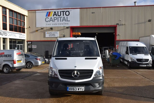 2013 63 MERCEDES-BENZ SPRINTER 2.1 313 CDI D/C MWB 4d 129 BHP 6 SEATER DIESEL MANUAL DIESEL TIPPER ONE OWNER S/H SPARE KEY