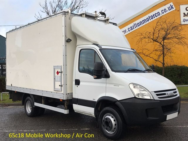 2008 08 IVECO-FORD DAILY 3.0 65c18 Box [ Mobile Workshop ] Van Air Con Low Mileage DRW