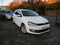 USED 2012 62 VOLKSWAGEN POLO 1.2 MATCH 5d 59 BHP BEAUTIFUL EXAMPLE 5 DOOR HATCH WITH FULL DEALER SERVICE HISTORY