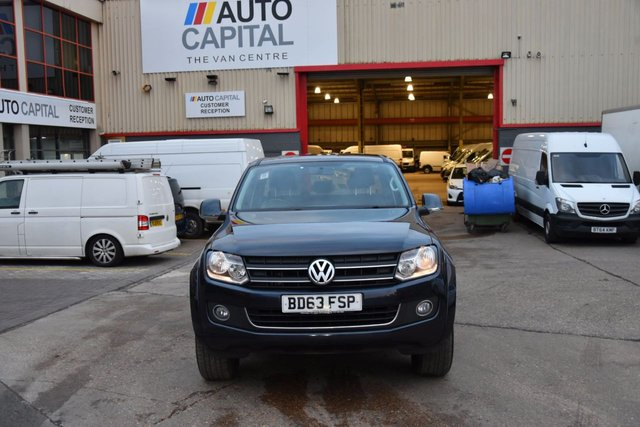 2013 63 VOLKSWAGEN AMAROK 2.0 DC TDI HIGHLINE 4MOTION 4d AUTO 180 BHP AIR CON 4X4 DIESEL PICK UP ONE OWNER LOVELY DRIVE SPARE KEY