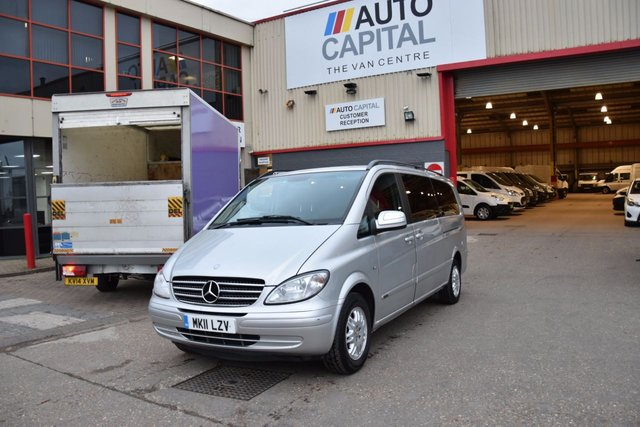 2011 11 MERCEDES-BENZ VIANO 3.5 EXTRA LONG AMBIENTE 8STR 5d 258 BHP AIR CON GAS BI-FUEL PETROL MINIBUS LOVELY DRIVE TV SCREEN