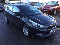 USED 2012 62 KIA CEED 1.6 CRDI 1 ECODYNAMICS 5d 126 BHP PRICE INCLUDES A 6 MONTH AA WARRANTY DEALER CARE EXTENDED GUARANTEE, 1 YEARS MOT AND A OIL & FILTERS SERVICE. 6 MONTHS FREE BREAKDOWN COVER.