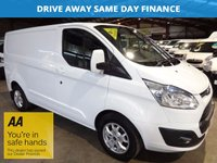 2014 FORD TRANSIT CUSTOM 2.2 270 LIMITED LR P/V 125 BHP -ONE OWNER- AIR CONDITIONING- £12795.00
