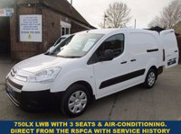 2011 CITROEN BERLINGO 750LX LWB WITH 3 SEAT CAB , AIR-CON & HISTORY FROM THE RSPCA £4445.00