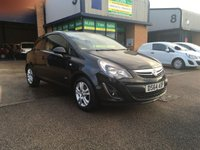 USED 2014 64 VAUXHALL CORSA 1.2 SPORTIVE CDTI 1d 94 BHP FSH, ALLOYS, A/C, 52,000 MILES, FINANCE ARRANGED & 6 MONTH WARRANTY. FSH, A/C, E/W, Alloys, Radio/CD, Drivers airbag, Factory fitted bulk head, Ply-lined, Metallic Black, Very Good Condition, 1 Owner, remote Central Locking, Drivers Airbag, CD Player/FM Radio, Steering Column Radio Control, Wood Lined, Tailgate, spare key